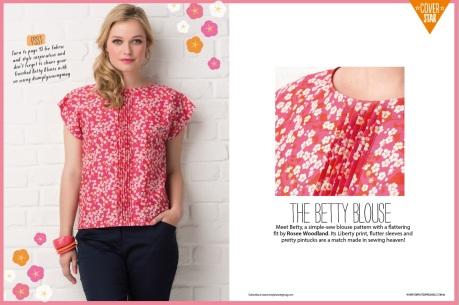Betty blouse (paper pattern)