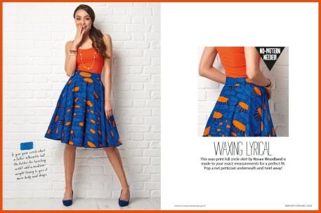 Self-measure circle skirt