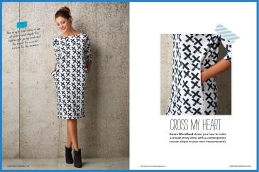 Self-measure cocoon dress