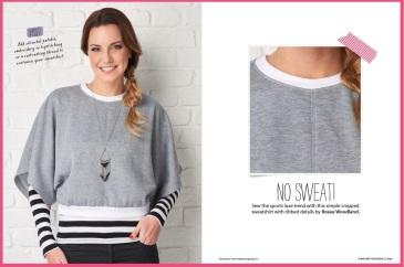 Modern sweatshirt (paper pattern)